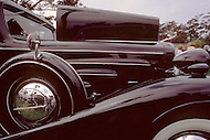 August 26th, 1984. Detail of the 1931 Cadillac 370 Allweather Phaeton.