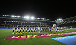 The teams line up before kick off - UEFA Europa League Round of 32 Second Leg - Everton vs Young Boys - Goodison Park Stadium - Liverpool - England - 26th February 2015 - Picture Simon Bellis/Sportimage