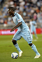 C. J Sapong (17) Sporting KC forward in action.
