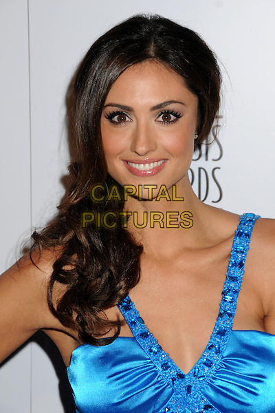 KATIE CLEARY .24th Annual Genesis Awards - Arrivals held at the Beverly Hilton Hotel, Beverly Hills, California, USA, 20th March 2010..portrait headshot smiling jewelled straps make-up beaded blue satin silk .CAP/ADM/BP.©Byron Purvis/AdMedia/Capital Pictures.