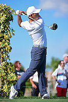Si Woo Kim (KOR) watches his tee shot on 13 during round 1 of the Honda Classic, PGA National, Palm Beach Gardens, West Palm Beach, Florida, USA. 2/23/2017.<br /> Picture: Golffile | Ken Murray<br /> <br /> <br /> All photo usage must carry mandatory copyright credit (&copy; Golffile | Ken Murray)