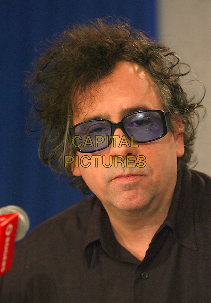 "TIM BURTON.""Corpse Bride"". .Press conferences held at Sutton Place for the 2005 Toronto Film Festival, Toronto, Canada..September 10th, 2005.Photo Credit: Laura Farr/Admedia.headshot portrait sunglasses shades.www.capitalpictures.com.sales@capitalpictures.com.© Capital Pictures."