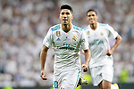 Real Madrid's Marco Asensio (l) and Raphael Varane celebrate goal during Supercup of Spain 2nd match. August 16,2017. (ALTERPHOTOS/Acero)