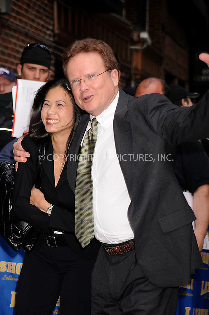 WWW.ACEPIXS.COM . . . . .....May 19, 2008. New York City....Virginia Senator Jim Webb (right) and guest leave a taping of 'The Late Show with David Letterman' at the Ed Sullivan Theater...  ....Please byline: Kristin Callahan - ACEPIXS.COM..... *** ***..Ace Pictures, Inc:  ..Philip Vaughan (646) 769 0430..e-mail: info@acepixs.com..web: http://www.acepixs.com