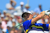 Justin Thomas (USA) tees off the 1st tee to start his match during Thursday's Round 1 of the 117th U.S. Open Championship 2017 held at Erin Hills, Erin, Wisconsin, USA. 15th June 2017.<br /> Picture: Eoin Clarke | Golffile<br /> <br /> <br /> All photos usage must carry mandatory copyright credit (&copy; Golffile | Eoin Clarke)