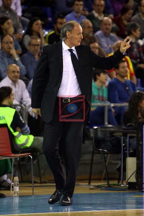 Euroleague Basketball-Regular Season Round 5.<br /> FC Barcelona vs Panathinaikos Athens: 78-69.<br /> Dusko Ivanovic.