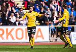 Uppsala 2014-05-01 Fotboll Svenska Cupen IK Sirius - IF Elfsborg :  <br /> Elfsborgs Henning Hauger jublar efter att ha gjort 2-0 i den f&ouml;rsta halvleken<br /> (Foto: Kenta J&ouml;nsson) Nyckelord:  Svenska Cupen Cup Semifinal Semi Sirius IKS Elfsborg IFE jubel gl&auml;dje lycka glad happy