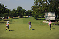 Billy Horschel (USA) sinks his 23' 2&quot; putt for birdie on 18 during round 2 of the Dean &amp; Deluca Invitational, at The Colonial, Ft. Worth, Texas, USA. 5/26/2017.<br /> Picture: Golffile | Ken Murray<br /> <br /> <br /> All photo usage must carry mandatory copyright credit (&copy; Golffile | Ken Murray)
