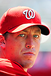 20 June 2010: Washington Nationals' pitcher Jordan Zimmermann watches from the dugout during a game against the Chicago White Sox at Nationals Park in Washington, DC. The Nationals were swept by the White Sox falling 6-3 in the last game of their 3-game interleague series. Mandatory Credit: Ed Wolfstein Photo