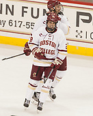 Chris Calnan (BC - 11), Ron Greco (BC - 28) - The Boston College Eagles defeated the visiting Providence College Friars 3-1 on Friday, October 28, 2016, at Kelley Rink in Conte Forum in Chestnut Hill, Massachusetts.The Boston College Eagles defeated the visiting Providence College Friars 3-1 on Friday, October 28, 2016, at Kelley Rink in Conte Forum in Chestnut Hill, Massachusetts.
