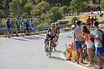 Johannes Frohlinger (GER) and Mike Teunisson (NED) Team Sunweb climb Sierra de la Alfaguara during Stage 4 of the La Vuelta 2018, running 162km from Velez-Malaga to Alfacar, Sierra de la Alfaguara, Andalucia, Spain. 28th August 2018.<br /> Picture: Eoin Clarke   Cyclefile<br /> <br /> <br /> All photos usage must carry mandatory copyright credit (&copy; Cyclefile   Eoin Clarke)