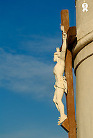 France, Marseille, Notre-Dame de la Garde Basilica, crucifix (Licence this image exclusively with Getty: http://www.gettyimages.com/detail/sb10069714bk-001 )