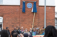 Group shot Malcom X, Marshall Street, Smethwick, Blue Plaque unveiling