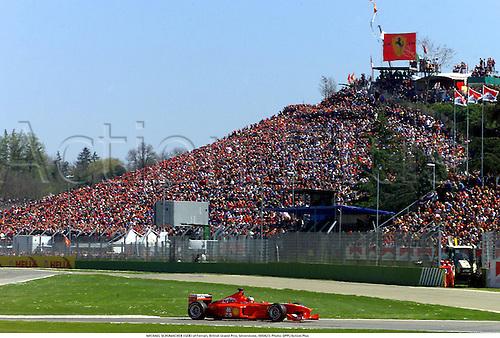 MICHAEL SCHUMACHER (GER) of Ferrari, British Grand Prix, Silverstone, 000423. Photo:  Action Plus...2000.Formula 1 F1.Motor racing...