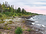 The Lake Superior Coast Near Copper Harbor, Michigan, Upper Peninsula, USA : Low Res File - 8X10 To 11X14 Or Smaller, Larger If Viewed From A Distance