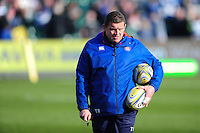Bath Rugby first team coach Toby Booth looks on during the pre-match warm-up. Bath Rugby first team coach Toby Booth. Aviva Premiership match, between Bath Rugby and Harlequins on February 18, 2017 at the Recreation Ground in Bath, England. Photo by: Patrick Khachfe / Onside Images