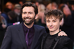 """LONDON, UK. April 29, 2019: David Tennant & son, Ty Tennant arriving for the """"TOLKIEN"""" premiere at the Curzon Mayfair, London.<br /> Picture: Steve Vas/Featureflash"""