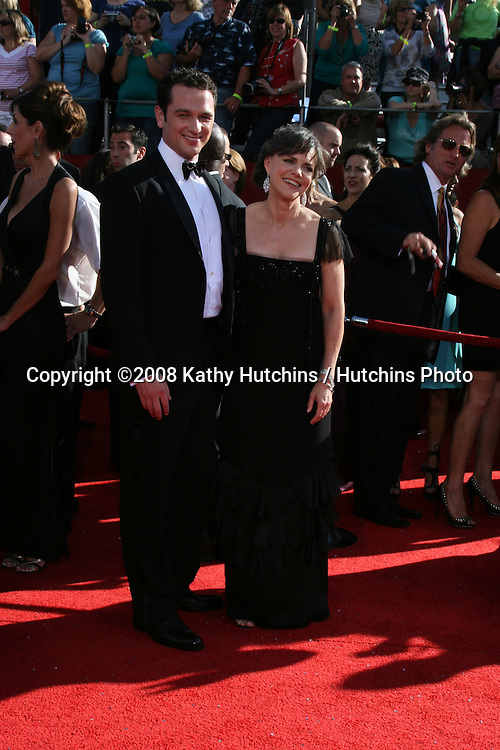 Matthew Rhys & Sally Field.arriving at the Primetime Emmys at the Nokia Theater in Los Angeles, CA on.September 21, 2008.©2008 Kathy Hutchins / Hutchins Photo....