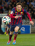 FC Barcelona's Leo Messi during La Copa match.February 12,2014. (ALTERPHOTOS/Mikel)