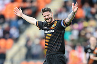 Michael Nelson of Barnet celebrates after his team score the opening goal during the Sky Bet League 2 match between Barnet and Grimsby Town at The Hive, London, England on 29 April 2017. Photo by David Horn.