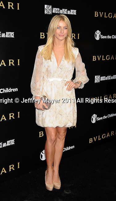 LOS ANGELES, CA - January 13: Julianne Hough attends Save The Children's U.S. Programs And Artists For Peace And Justice Hosted By Bulgari at Ron Burkle's Green Acres Estate on January 13, 2011 in Beverly Hills, California.