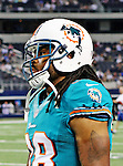 Miami Dolphins defensive back Kevyn Scott (38) in action during the pre- season game between the Miami Dolphins and the Dallas Cowboys at the Cowboys Stadium in Arlington, Texas. Dallas defeats Miami 30 to 13...