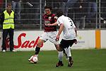 Sandhausen 19.04.2008, Andreas Buchner (Ingolstadt) und Tim Bauer (SV Sandhausen) in der Regionalliga S&uuml;d 2007/08 SV Sandhausen 1916 - FC Ingolstadt 04<br /> <br /> Foto &copy; Rhein-Neckar-Picture *** Foto ist honorarpflichtig! *** Auf Anfrage in h&ouml;herer Qualit&auml;t/Aufl&ouml;sung. Belegexemplar erbeten.