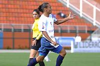 SÃO PAULO, SP, 10 DE JUNHO DE 2012 - FINAL DA COPA DO BRASIL DE FUTEBOL FEMININO: Atacante Giovania do São José comemora gol durante partida São José E.C. x Centro Olimpico, válida pela Final da Copa do Brasil de Futebol Feminino em jogo realizado na manhã deste <br /> <br /> domingo (10) no Estádio do Pacaembú. FOTO: LEVI BIANCO - BRAZIL PHOTO PRESS