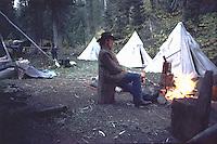 Cowboy, hunting camp, Jackson Hole Wyoming