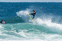 MARGARET RIVER, Western Australia/AUS (Sunday, April 15, 2018) Pat Gudauskas (USA) - The Margaret River Pro, continued today with men&rsquo;s elimination Round 2 called ON at 7:20 a.m.  in six-to-eight foot (1.8 - 2.4 metre) waves at Main Break. The Women&rsquo;s Round 2 also ran through the afternoon.<br /> <br /> After two days of surfing at North Point the contest moved back to the primary location at Main Break Margaret River for today. Main Break looked clean this morning with groomed, six-to-eight-foot waves coming through. A light onshore from the SW came up around midday but the contest continued through he afternoon.<br /> Photo: joliphotos.com