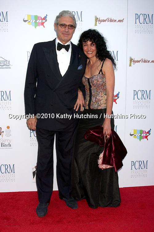 "Michael Nouri & Karen Dawn.arrives at ""The Art of Compasion PCRM 25th Anniversary Gala"".The Lot.Los Angeles, CA.April 10, 2010.©2010 Kathy Hutchins / Hutchins Photo..."