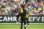 10th February 2018, Melbourne Cricket Ground, Melbourne, Australia; International Twenty20 Cricket, Australia versus England;  Billy Stanlake of Australia bowls