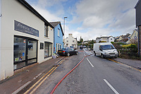 Pictured: New Road.<br /> Re: Cleanup after storm Dennis in Crickhowell, Wales, UK.