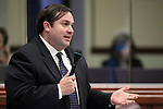 Nevada Assemblyman James Ohrenschall, D-Las Vegas, speaks on the Assembly floor at the Legislative Building in Carson City, Nev., on Friday, May 22, 2015. <br /> Photo by Cathleen Allison