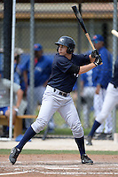 Outfielder Dustin Fowler (26) of the New York Yankees organization during a minor league spring training game against the Toronto Blue Jays on March 16, 2014 at the Englebert Minor League Complex in Dunedin, Florida.  (Mike Janes/Four Seam Images)