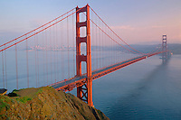 Golden Gate Bridge and San Francisco<br />   from Battery Spencer <br /> Golden Gate National Recreation Area<br /> Marin County,  California