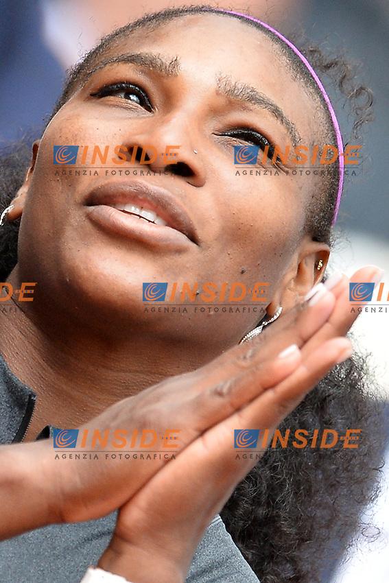 Serena Williams (USA) <br /> Roma 15-05-2016  Foro Italico<br /> Internazionali BNL d'Italia, Women Final, <br /> Tennis WTA<br /> Foto Antonietta Baldassarre / Insidefoto