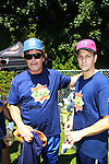 Alec Baldwin (The Doctors) and 30 Rock poses with Josh Charles, (The Good Wife) at the 63rd Annual Charity Softball Game 2011 - Artists versus Writers to benefit East Hampton Day Care Learning Center, East End Hospice and Phoenix Houses of Long Island - played at Herrick Park, East Hampton, New York. (Photo by Sue Coflin/Max Photos)