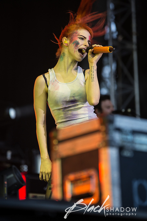 Paramore performing at Soundwave Festival 2013, Flemington Racecouse, Melbourne, 1 March 2013
