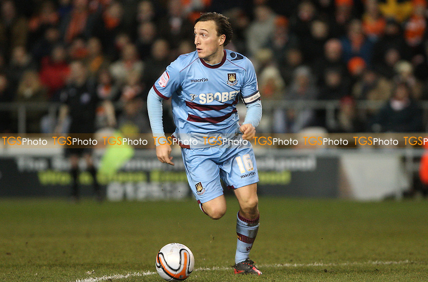Mark Noble of West Ham - Blackpool vs West Ham United, npower Championship at Bloomfield Road, Blackpool - 21/02/12 - MANDATORY CREDIT: Rob Newell/TGSPHOTO - Self billing applies where appropriate - 0845 094 6026 - contact@tgsphoto.co.uk - NO UNPAID USE..