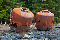 The remains of the Rose Harbour Whaling Station, Haida Gwaii, British Columbia, Canada.