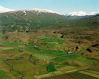 Hléskógar, Kolgerði og Grýtubakki, Grýtubakkahreppur /.Hleskogar, Kolgerdi and Grytubakki in Grytubakkahreppur.