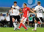 Dariusz Dudka, Michael Ballack, Euro 2008. Germany-Poland in Klagenfurt (Austria) 06082008.