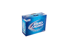 A pack of 20 355ml cans of Bud Light beer is pictured over a pure white background.