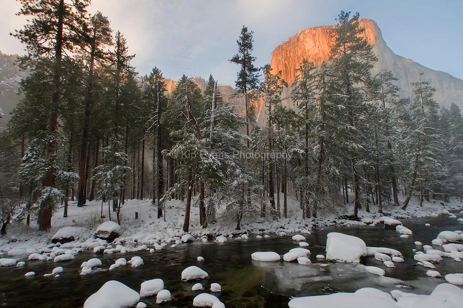 El Capitan in the Snow