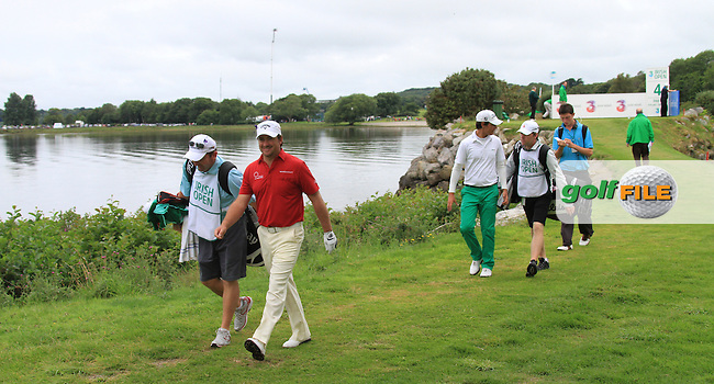 Graeme McDowell and Matteo Manassero walk off the 4th tee during the Final Day of the 3 Irish Open at the Killarney Golf & Fishing Club, 1st August 2010..(Picture Eoin Clarke/www.golffile.ie)