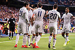 Real Madrid's player Morata, Gareth Bale, Nacho, Luka Modric, Asensio and Danilo during the XXXVII Santiago Bernabeu Trophy in Madrid. August 16, Spain. 2016. (ALTERPHOTOS/BorjaB.Hojas)