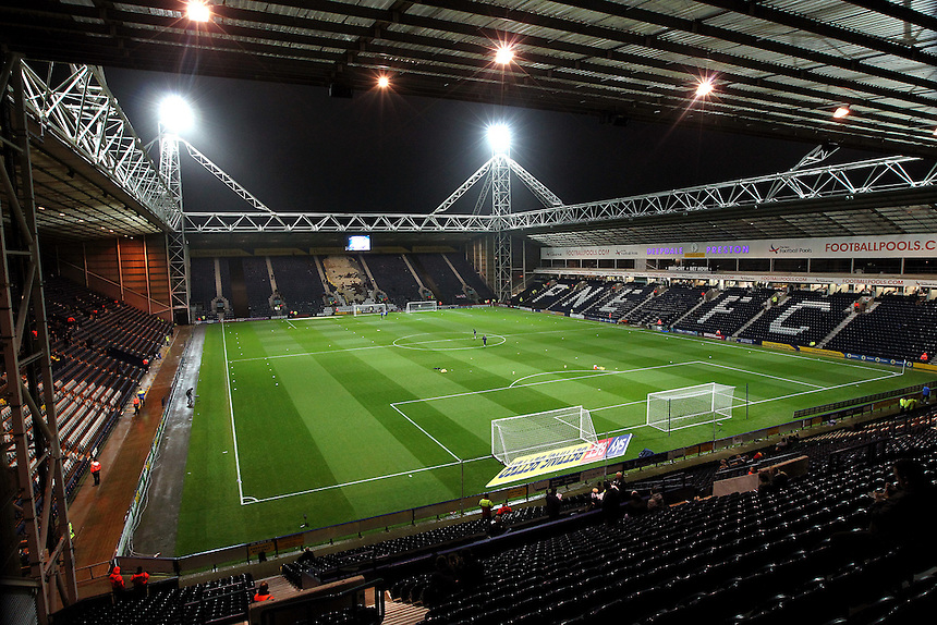 A general view of Deepdale Stadium, home of Preston North End<br /> <br /> Photographer Rich Linley/CameraSport<br /> <br /> The EFL Sky Bet Championship - Preston North End v Blackburn Rovers  - Saturday 10th December 2016 - Deepdale - Preston<br /> <br /> World Copyright &copy; 2016 CameraSport. All rights reserved. 43 Linden Ave. Countesthorpe. Leicester. England. LE8 5PG - Tel: +44 (0) 116 277 4147 - admin@camerasport.com - www.camerasport.com