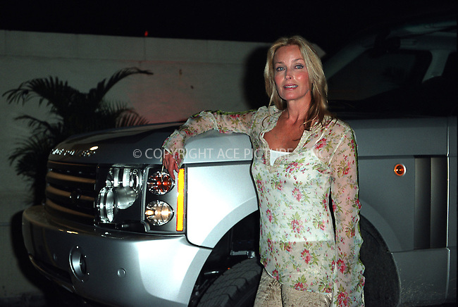 Bo Derek helps to launch 2003 Range Rover at Manhattan Land Rover Dealership. New York, June 26, 2002. Please byline: Alecsey Boldeskul/NY Photo Press.   ..*PAY-PER-USE*      ....NY Photo Press:  ..phone (646) 267-6913;   ..e-mail: info@nyphotopress.com