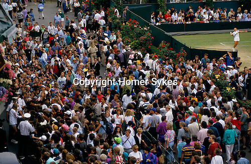 Tennis at Wimbledon LONDON SW19 Steffi Graf signs authographs for fans 1980s